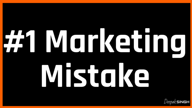 Video: #1 Marketing Mistake