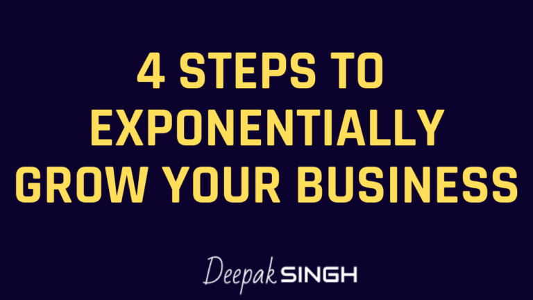 Video: 4 Steps to Exponentially Grow Your Business