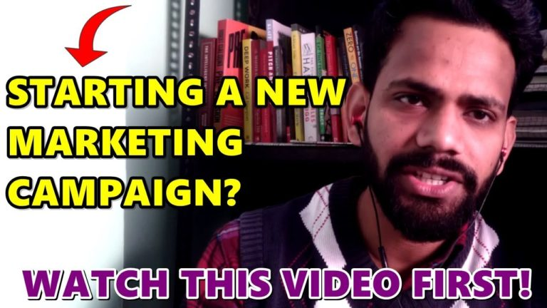 Planning A New Marketing Campaign? Watch this Video First.